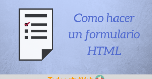 Crear formulario HTML5