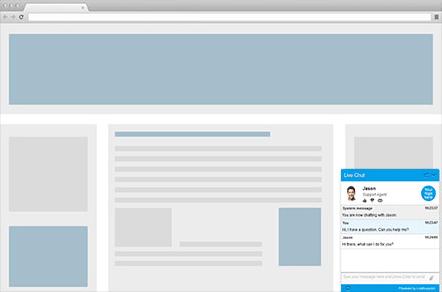 Chat html para página web