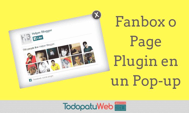 Popup con Me gusta (Facebook) – Para tu web o blog