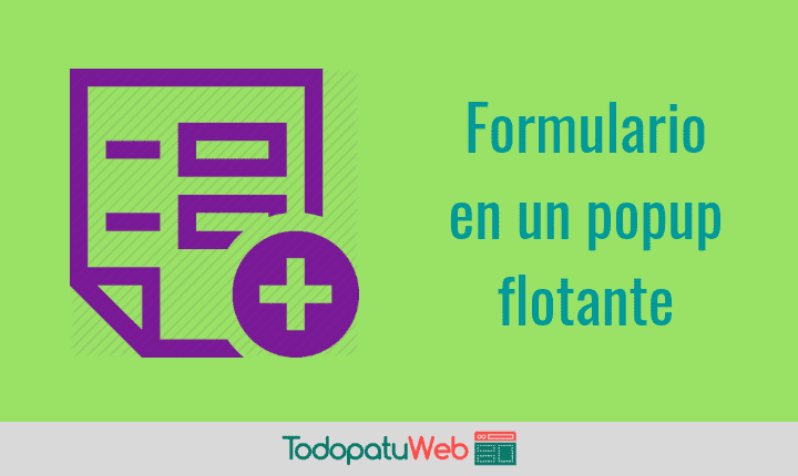 Botón que abre un Formulario de Contacto Flotante en tu Web