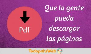Boton HTML para convertir a PDF