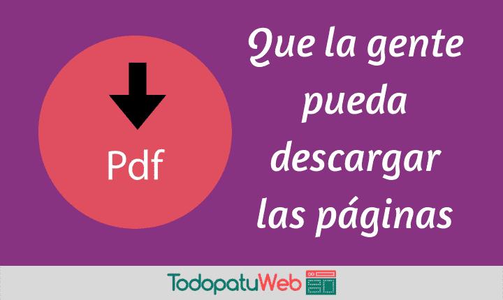 Como Poner un Botón «Convertir a PDF» en los Artículos de tu Blog