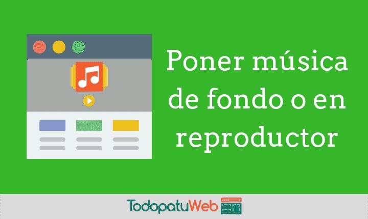 Crea y pon un reproductor de música en tu web – HTML