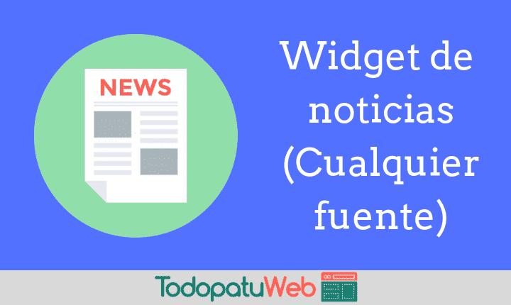 Como poner un Widget de Noticias en tu web