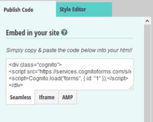 código de formulario