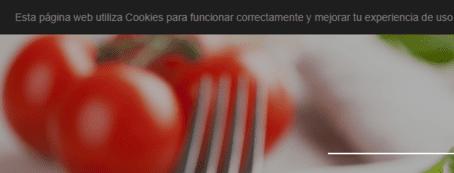 Webnode barra de Cookies